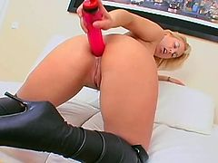 Luba Love is amazing as she deep strokes a big toy up the juicy ass