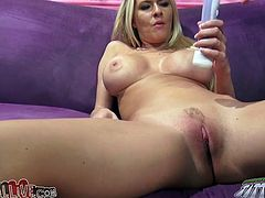 Feverish long haired dawg of this bosomy blond Sweetie greedily eats thirsting kitty of this chick. Meanwhile she doesn't interrupt rubbing her clit with big dildo. Have a look at this voracious jade in My XXX Pass porn video!