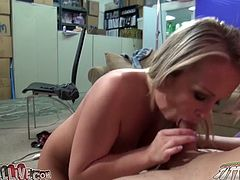 Chesty blonde Jessica Moore rides her lover's dick in cowgirl position