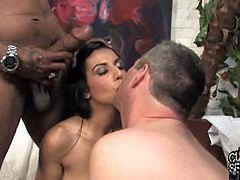 Cuckold Sessions brings you a hell of a free porn video where you can see how the alluring brunette Lou Charmelle gets pounded by a hung black stud into heaven during her honeymoon!