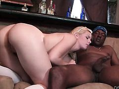 Tara Lynn Foxx has fire in her eyes while eating Wesley Pipess erect cock