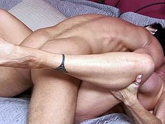 Nothing is more pleasant for a busty mom than to have her creamy vag nailed by younger dongs