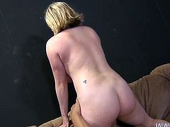 This unbelievably hot blonde always gets what she wants. She sits on her lover's face so he can lick her pink pussy. Horny dude licks her twat passionately like a true pussy eater. Then he fucks her juicy pussy in missionary position.