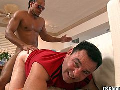 Amazing gay sex for a guy with a big black cock