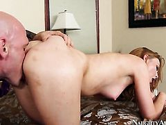 With small ass and trimmed bush just loves to fuck and cant say No to hard dicked dude Johnny Sins