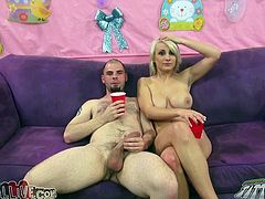 This feverish big cocked boy seems to be very much proud of his big thick cock. He presents his light haired torrid bitch nice doggy style fuck. Look at this self confident stud in My XXX Pass porn video!
