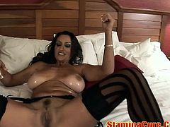 Huge Tits MILF Nailed By A Black Co