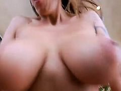 Male drills pussy huge