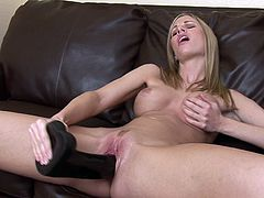 Huge toy cocks for slim beauty's fresh fanny