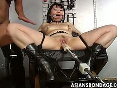 Asians Bondage brings you a hell of a free porn video where you can see how a vicious blonde mistress toys her Asian slave into heaven while assuming very hot poses.