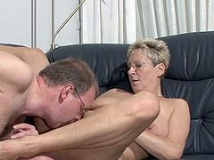 Amazing trio along two horny matures and one guy who is lucky enough to pound both of them