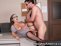 Dane Cross cant resist dangerously horny Shay Morgans acttraction and bangs her like crazy