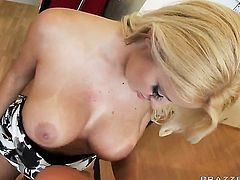 Johnny Sins bangs horny as hell Chantelle Skyes mouth just like mad