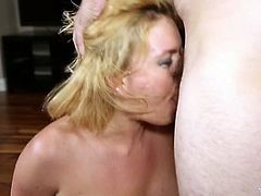 Tommy Pistol knows what he wants from his spoiled GF. He grabs her by her head and pulls her towards his rock hard cock so she can suck his meat stick. She sucks his pecker greedily like a dirty whore.