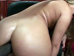 Desirable seductive light haired babe with awesome body and nice ass gets her asshole and pussy fucked hard and sucks the BBC. Have a look at this chick in Pinko HD xxx video.