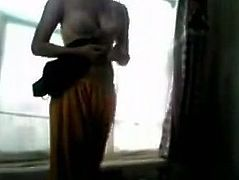 Horny and sex dark haired bitch nice body takes off her clothes preparing for sex. Have a look at this whore in The Indian Porn sex clip.