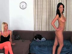 Two Cute furies Enjoy kissing And shafting A private action in FFM 3some