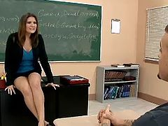 Hot Teacher with student
