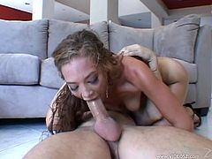 Take a look at this rough hardcore scene where the slutty Ashley Gracie ends up with a mouthful of semen in this hardcore scene after being fucked silly.