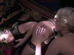 Two naughty chicks adore anal sex and they want to pleasure each other. They have many sex toys and they use them to fuck ass holes and take each other to the top!