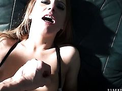 Blonde Nikky Thorne doing lewd things