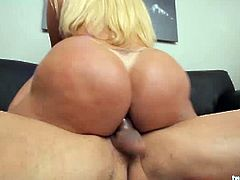 The ass on Pamela Falcos is not to be messed with! Watch her get fucked hard by his big meaty cock. She moans loud, her tits are bouncing all the way up and she is about to cum.