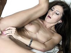 Alice Romain strokes her pussy the way she loves it