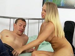 Horny couple pleases each other orally in 69 position