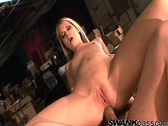 Take a look at this hardcore scene where the beautiful blonde Chelsie Rae is fucked by this guy's thick cock after getting a taste of it.