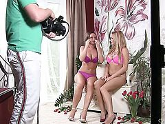 Silvia Saint enjoys another lesbian sex session with her lover Stacy Silver