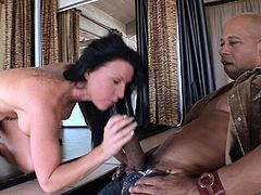 Big Titted Stripper Gives a Blowjob and Fucks in the VIP Room