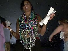 These girls know they have to show skin if they want beads so they flash their sweet, natural tits and get properly rewarded.