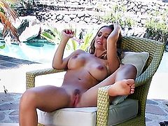 Nicole Aniston strips and masturbates