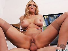 Michael Vegas cant wait any longer to stuff his man meat in yummy Julia Anns hole