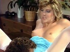 Watch these two lesbian super sexy girlfriends getting fucked by their new friend in the bedroom in Classic Porn sex clips.