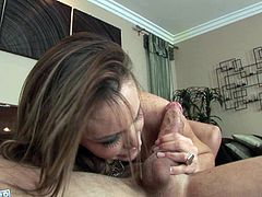 Broen haired chick Jenna Presley gets her wet pussy pounded hard from behind by her horny man. Then she rides his cock in reverse cowgirl position.
