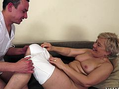 Check out this hot scene where this slutty mature blonde is fucked by this stud as you hear her moan like never before.
