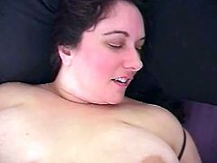 Prepare your cock for this brunette BBW, with big knockers and a big ass, while she gets fucked hard and moans stridently. She's a crazy lady!