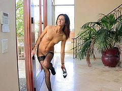 Such an erotic solo performance by a delightful sex doll Jody! She gets naked and starts making herself feel so fucking good. She is a lusty one!