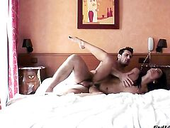 Manuel Ferrara gets pleasure from fucking Lou Charmelle in her sweet mouth before ass fucking