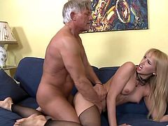 It's time this appealing gal to feel senior cock drilling deep inside her puffy ass during anal porn adventure