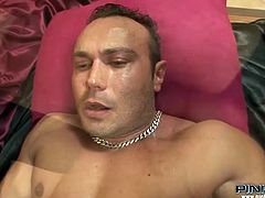 Slutty transsexual with nice body gets his dick sucked by the guy. Have a look at this bitch in steamy Pinko Shemale xxx clip.