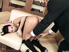 Alysa is horny as fuck after sucking Ian Scotts worm after ass fucking