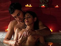 Flat chested but beautiful Indian babe is everything your lust desires. Go for the new Lust Cinema sex tube video featuring passionate romantic sex in the jacuzzi.