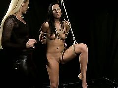 Blonde Katy Parker cant resist Kathia Nobilis attraction and gives her wet spot a lick