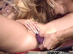 The salacious lesbian duo is having the time of their lives. See them playing hard with their pussies and getting one screaming orgasm after another.