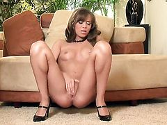 Capri Anderson has some time to rub her beaver