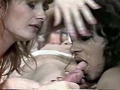 Attractive and sexy booty chicks gives a wonderful blowjob to the guy. Have a look at these babes in The Classic Porn sex video.