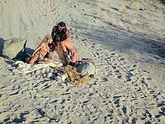 An erotic masterpiece like no other! A film that blends breath-taking visuals, tantalizing costumes, intriguing characters, out of this world production design and of course - amazing sex. Watch this video of two stunning babes having sex with a big dick in a desert, taking turns in licking each other while fucked. Enjoy this 3some sex video!