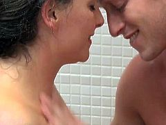 Mom.xxx brings you a hell of a free porn video where you can see how a wild brunette milf enjoys a hot shower fuck and gets her cunt blasted very hard into heaven.